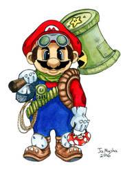 Super Mario character - Post-Apocalypse v.02 by jamysha