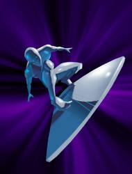 Silver Surfer light speed by licarto
