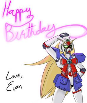 Birthday Drawing Noble Gundam By Dakazis Bro On Deviantart