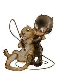 LITTLE CATWOMAN by Alberto VARANDA by VARANDA-Alberto