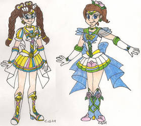 Sailor Sun and Sailor Earth by CooperGal24