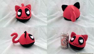 Deadpool Kitty Mochi by Deidaraslittlebird
