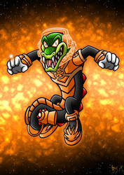 Orange Lantern Vector by Berty-J-A