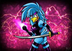 Psylocke Blue Bird by Berty-J-A