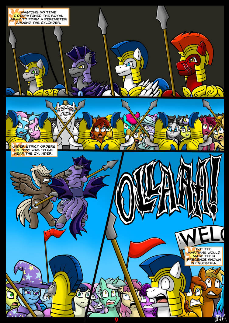 Equestrias War Of The Worlds Page 9 By Berty J A On Deviantart