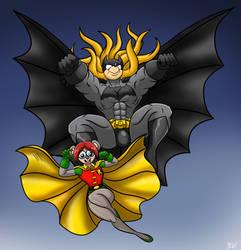 Batscarzzy and Nerd Robin by Berty-J-A