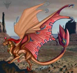 Gerudo Dragon by Galidor-Dragon