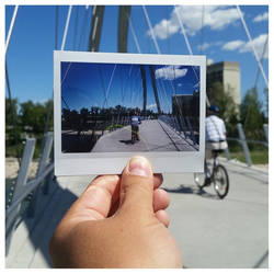 Pedestrian Bridge Instant by lonnietaylor