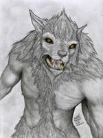 Drawtober/Drawlloween Day 5: Werewolf by Ayedeas