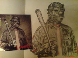 Shawn Crahan by benmboard