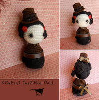 Kokeshi inspired doll by missdolkapots