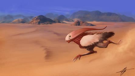 Alien desert runner by Zairaam