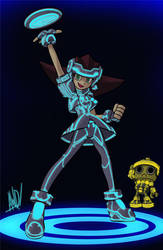 Miss TRON Bonne by AndrewDickman