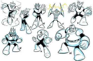 Robot Master-a-thon Results MM3 by AndrewDickman