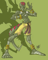 Lizard Dhalsim by AndrewDickman
