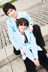 OHSHC Mori + Haruhi by Evil-Uke-Sora
