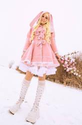 Pink Easter Bunny by Evil-Uke-Sora