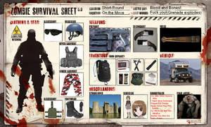 Zombie Survival Sheet by GameraGX