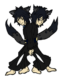 Kage and Kuro: Base Color by Myth-Legend