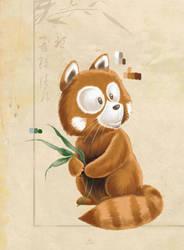 red panda detail by LuisFNeves