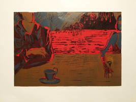 Wine cigarette coffee by Aqarelle