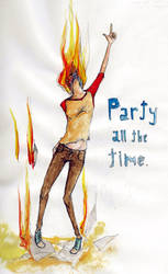 burn party burn by captainAurelie
