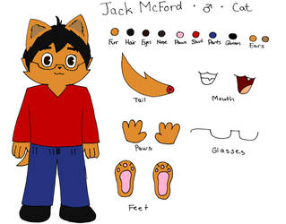 My Fursona Ref Sheet by JackMcFord