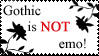 Gothic is NOT emo_stamp by LunicornArt