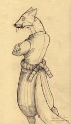 Fox samurai concept by Nimphradora