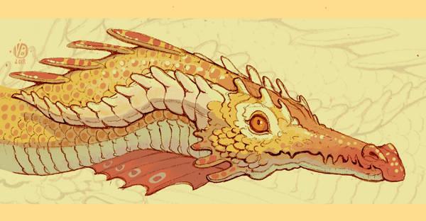 Golden dragon by Nimphradora
