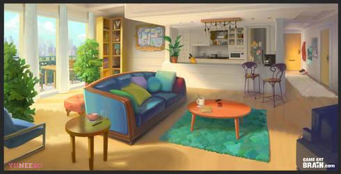 Environment design for a visual novel game by Nimphradora