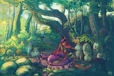 Forest of the sleeping owls by Nimphradora