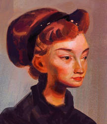 Portrait practice - Fechin by Nimphradora