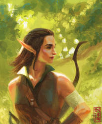 Naither - Elvish Rogue by Nimphradora