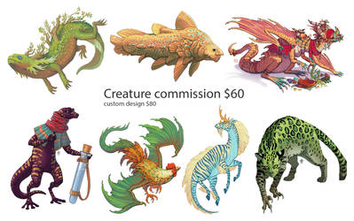 Creature commission info by Nimphradora