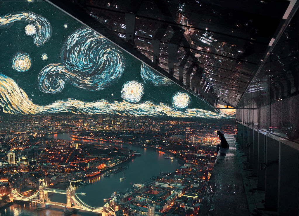 Midnight in London ft. Starry Night by Gedogfx
