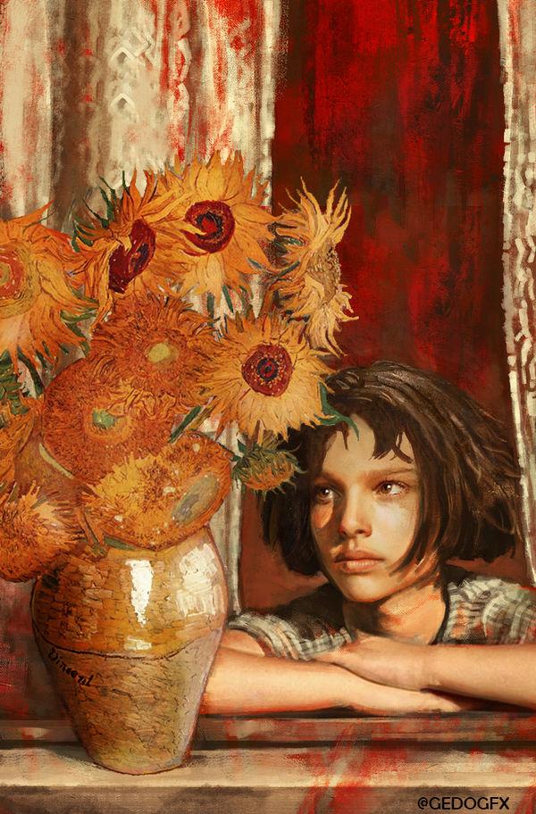 Mathilda Sunflowers by Gedogfx