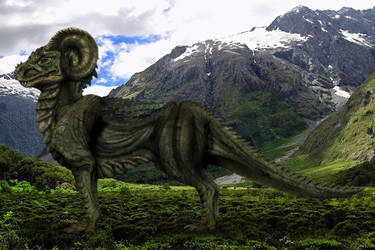 Mountain Dragon by spellwing777