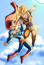 Superman VS Goku by mikemaluk