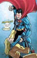 Superman VS Sentry by mikemaluk