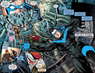 Nightwing #24 Page 2/3 Colored by mikemaluk