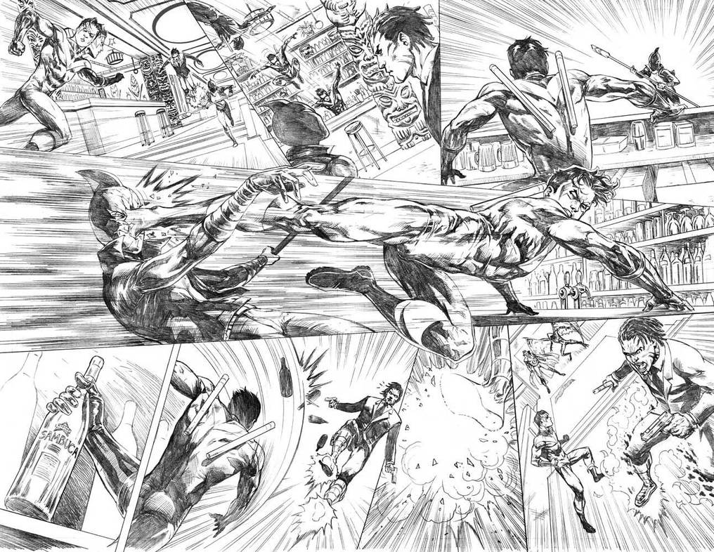 Nightwing#24 Pages 6-7 by mikemaluk