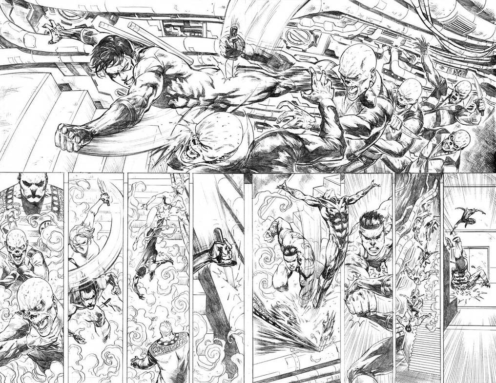 Nightwing#24 Pages 10-11 by mikemaluk