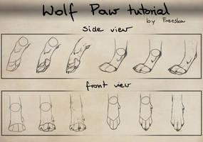 Wolf paw tutorial by Rizuuki