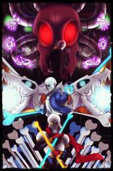 Battle of skeletons by Miyuki-fanarts