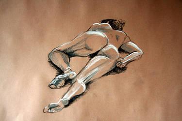 Reclining female nude 1 by scribbler