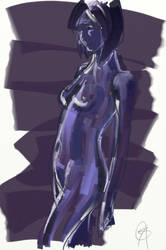 Portrait in Blue - Drawing Day by scribbler