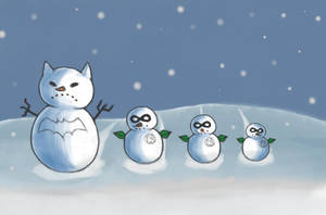 Snow Family by CrimsonHorror