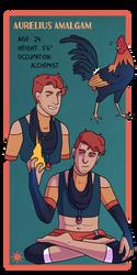 Aurelius Character Sheet by Teslaverian