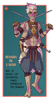 Remara Character Sheet by Teslaverian